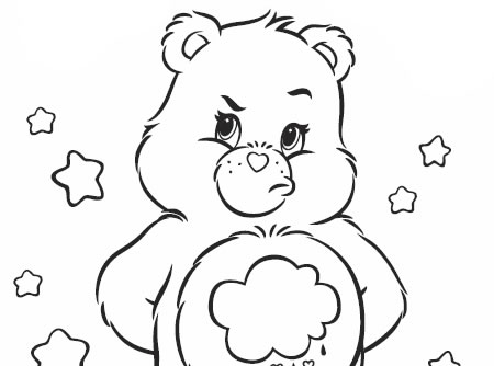coloring pages for the carebears - photo#49