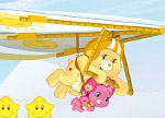 Glide through the sky with Funshine and Wonderheart Bear!